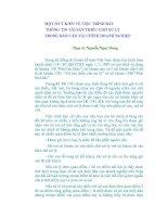 MỘT SỐ Ý KIẾN VỀ VIỆC TRÌNH BÀY THÔNG TIN TÀI SẢN THIẾU CHỜ XỬ LÝ TRONG BÁO CÁO TÀI CHÍNH DOANH NGHIỆP doc
