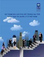Báo cáo khoa học '''' Sự tham gia của phụ nữ trong vai trò lãnh đạo và quản lý ở Việt Nam'''' pptx