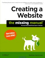 creating a website the missing manual 3rd edition