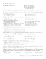 Đề thi thử môn Vật Lý 2014(đề số 1)