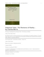 Historical Tales - The Romance of Reality - Volume VII docx