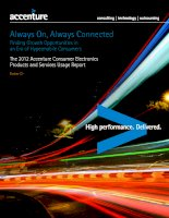 Always On, Always Connected Finding Growth Opportunities in an Era of Hypermobile Consumers The 2012 Accenture Consumer Electronics Products and Services Usage Report pdf