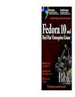 Fedora 10 and Red Hat Enterprise Linux Bible potx