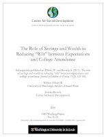The Role of Savings and Wealth in Reducing ―Wilt‖ between Expectations and College Attendance pdf