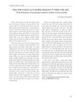 Tình hình nước bị ô nhiễm arsenic ở trên thế giới (The situation of polluted arsenic water in the world) pdf