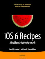 iOS 6 Recipes: A Problem-Solution Approach ppt