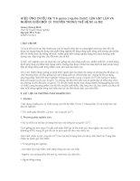 HIỆU ỨNG CHIẾU XẠ TIA gama (nguồn Co60) LÊN HẠT LÚA VÀ NHỮNG BIẾN ĐỔI DI TRUYỀN TRONG THẾ HỆ M1và M2 pot