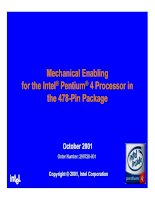 MECHANICAL ENABLING FOR THE INTEL@ PRNTIUM 4 PROCESSOR IN THE 478-PIN PACKAGE pdf