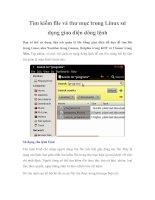 Tìm kiếm file và thư mục trong Linux sử dụng giao diện dòng lệnh pdf