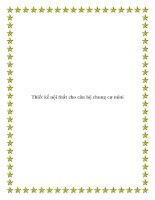 Thiết kế nội thất cho căn hộ chung cư mini pdf