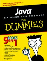Java All-in-One Desk Reference For Dummies doc