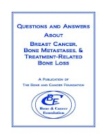 Questions and Answers About Breast Cancer, Bone Metastases, & Treatment-Related Bone Loss ppt
