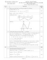 đáp án đề thi đại học môn toán năm 2008 khối a