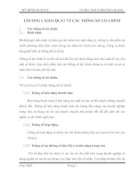 Mô hình DUPONT: CHƯƠNG I. KHÁI QUÁT VỀ CÁC THÔNG SỐ TÀI CHÍNH pdf