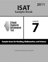 ISAT Sample Book 7: Sample Items for Reading,Mathematics, and Science 2011 doc