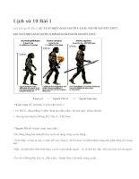 Lịch sử 10 Bài 1