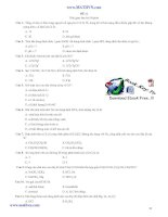 30 đề thi trắc nghiệm hoá học luyện thi ĐHCĐ Phần 2 doc