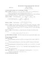 ĐỀ THI THỬ TUYỂN SINH ĐẠI HỌC NĂM 2013 Môn: Toán học ĐỀ SỐ 06 ppt