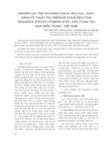 Nghiên cứu tính đa dạng của allele hla - DQA1 bằng kỹ thuật polymerase chain reaction sequence specific primers (PCR - SSP) ở dân tộc kinh miền trung - Việt Nam docx