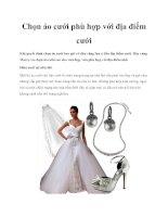 Chọn áo cưới phù hợp với địa điểm cưới docx