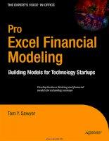 Pro Excel Financial Modeling Building Models for Technology Startups pdf