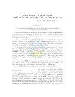 Kết quả chọn lọc và phát triển giống khoai lang ruột vàng chất lượng cao KLC 266 pdf