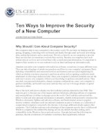 Ten Ways to Improve the Security of a New Computer doc