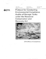 Protocol for Conducting Environmental Compliance Audits of Storage Tanks under the Resource Conservation and Recovery Act pdf