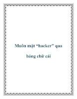 """Muôn mặt """"hacker"""" qua bảng chữ cái pot"""