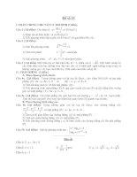 Đề ôn thi tốt nghiệp trung học phổ thông môn toán - Đề 33 pot