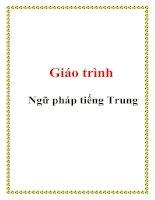 Giáo trình Ngữ pháp tiếng Trung potx