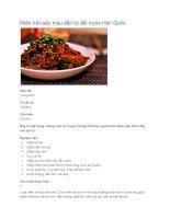 Miến trộn sắc màu đến từ đất nước Hàn Quốc pdf