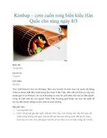 Kimbap – cơm cuốn rong biển kiểu Hàn Quốc cho nàng ngày 8/3 docx
