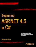 Beginning ASp.NET 4.5 in C# potx