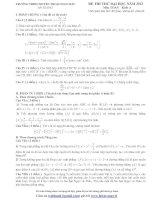 Tổng hợp đề thi thử ĐH môn Toán các khối Đề 68 potx