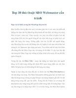 Top 10 thủ thuật SEO Webmaster cần tránh docx