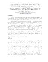 ẢNH HƯỞNG CỦA ĐỘ KIỀM LÊN QUÁ TRÌNH TĂNG TRƯỞNG CỦA TÔM THẺ CHÂN TRẮNG (Penaeus vannamei) ĐƯỢC NUÔI Ở ĐỘ MẶN THẤP (4‰) EFFECT OF ALKALINITY ON GROWTH PERFORMANCE OF WHITE LEG SHRIMP (Peneaus vannamei) CULTURED IN LOW SALINITY AREA (4‰)