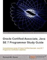 Oracle Certified Associate, Java SE 7 Programmer Study Guide pptx