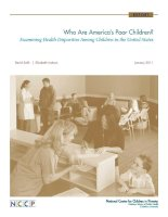 Who Are America's Poor Children? Examining Health Disparities Among Children in the United States ppt