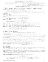 đề thi thử đại học lần 1 môn toán khối a, b 2014 - thpt quế võ 1