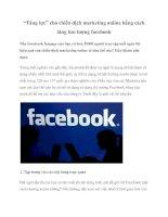 """""""Tăng lực"""" cho chiến dịch marketing online bằng cách tăng lưu lượng facebook ppt"""