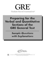 ETS - Preparing for the Verbal and Quantitative Sections of the GRE General Test