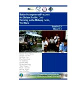 Better Management Practices for Striped (Tra) Catfish Farming in the Mekong Delta, Vietnam