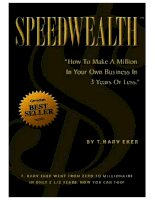 Speedwealth: How to Make a Million in Your Own Business in 3 Years or Less docx