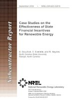 Case Studies on the Effectiveness of State Financial Incentives for Renewable Energy pdf