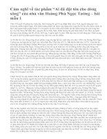 """Cảm nghĩ về tác phẩm """"Ai đã đặt tên cho dòng sông"""" của nhà văn Hoàng Phủ Ngọc Tường – bài mẫu 1"""