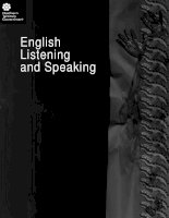English Listening and Speaking pdf