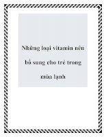 Những loại vitamin nên bổ sung cho trẻ trong mùa lạnh doc