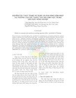 NGHIÊN CỨU THỰC TRẠNG SỬ DỤNG VÀ KHẢ NĂNG XÂM NHẬP THỊ TRƯỜNG CỦA CÁC THUỐC TRỪ SÂU SINH HỌC TRONG SẢN XUẤT NÔNG NGHIỆP pptx