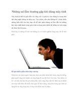 Những sai lầm thường gặp khi dùng máy tính potx